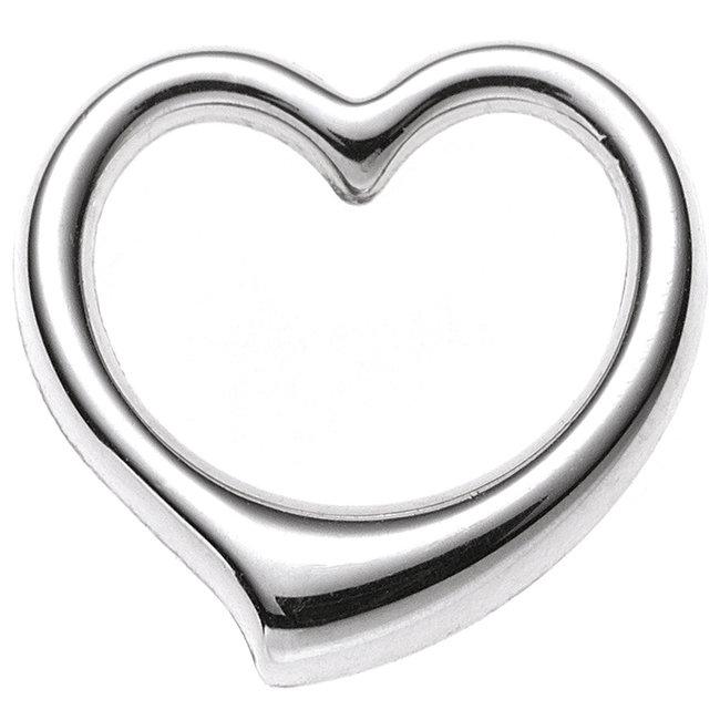 Gold pendant Heart 9 carat white gold