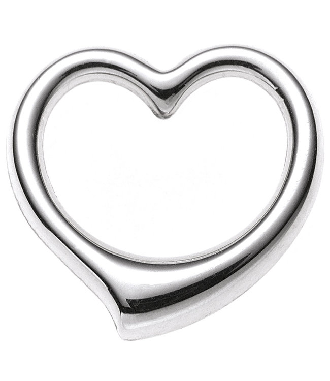 JOBO Gold pendant Heart 9 carat white gold