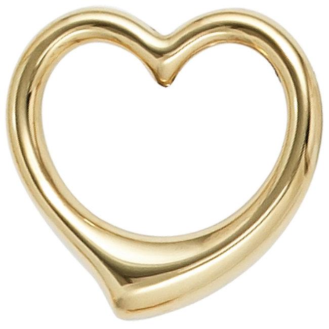 Aurora Patina Gold pendant Heart 333 8ct.