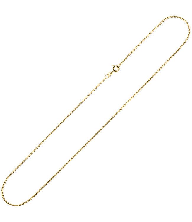 Aurora Patina Goldkette 8 kt. 333 Ankerkette Länge 45 cm Durchmesser 1,2 mm