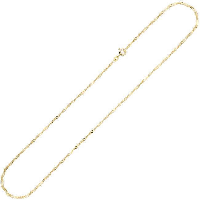 Gold necklace 8 ct. 333 Singaporelength 42 cm diam. 1,8 mm