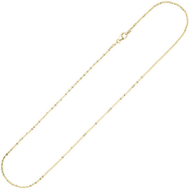 Criss-Cross gouden halsketting 8 kt. 333 lengte 42 cm diam. 1,3 mm