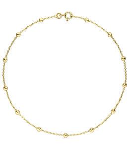 Aurora Patina Gouden enkelbandje anker 8kt. 25 cm Ø 1,3 mm