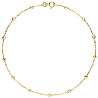 Aurora Patina Fußkettchen 8kt. Gold Ankerketten 25 cm Ø 1,3 mm