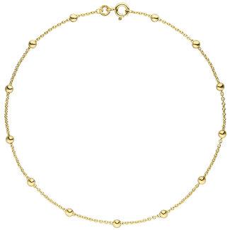 Aurora Patina Golden anklet 8 ct. anchor links 25 cm Ø 1.3 mm