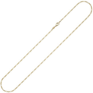 Aurora Patina Goldene Halskette Figaro 45 cm Ø 1.7 mm
