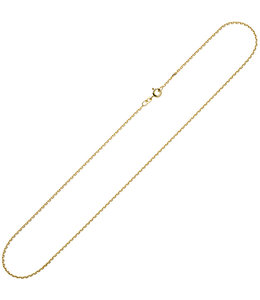Aurora Patina Gouden halsketting 8kt. anker 45 cm Ø 1,6 mm