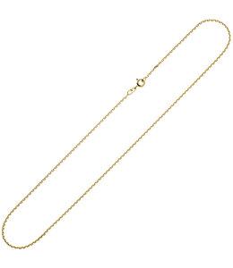 JOBO Gouden halsketting 8kt. anker 45 cm Ø 1,6 mm