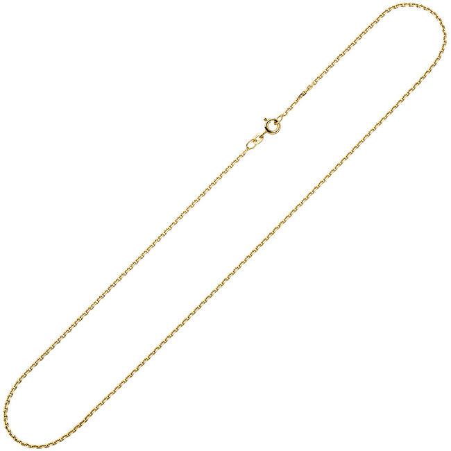 Gouden halsketting 8 kt. 333 anker gediamanteerd lengte 45 cm diam. 1,6 mm