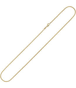 Aurora Patina Gold necklace 8 ct. jasseron 38 cm Ø 1.5 mm