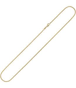 Aurora Patina Gouden halsketting 8kt. jasseron 38 cm Ø 1,5 mm