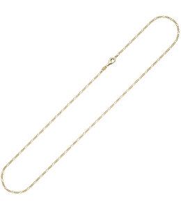 JOBO Goldene Halskette Figaro 50 cm Ø 1.7 mm