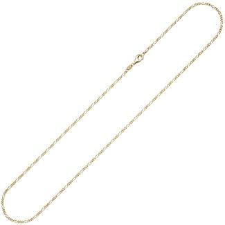 Aurora Patina Goldene Halskette Figaro 50 cm Ø 1.7 mm