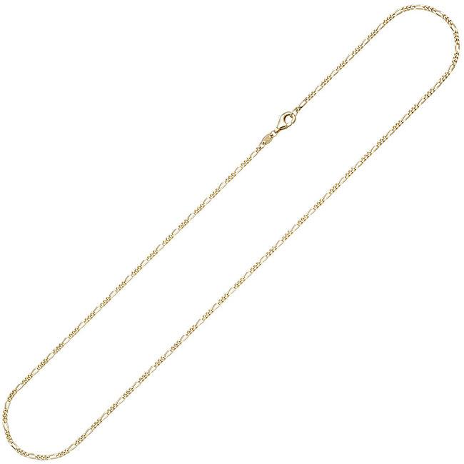 Gouden 8 kt. (333) halsketting Figaro 50 cm doorsnede 1,7 x 0,8 mm