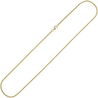 Aurora Patina Snake necklace gold 8 ct. 40 cm Ø 1.4 mm