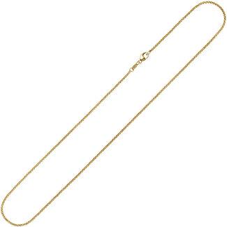 Aurora Patina Gouden halsketting 8kt. jasseron 42 cm Ø 1,5 mm