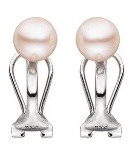 JOBO Zilveren oorclips met zoetwaterparels 6-7 mm