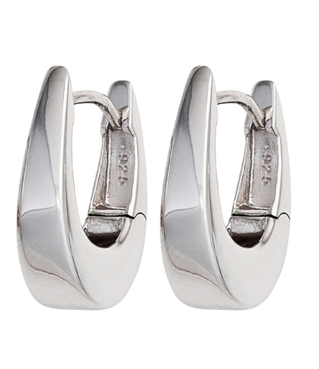 JOBO Sterling silver creoles oval tapered