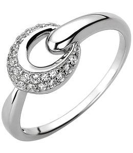 Aurora Patina Zilveren ring met 25 zirkonia's