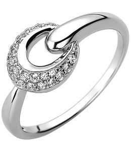 JOBO Silver ring with 25 zirconias