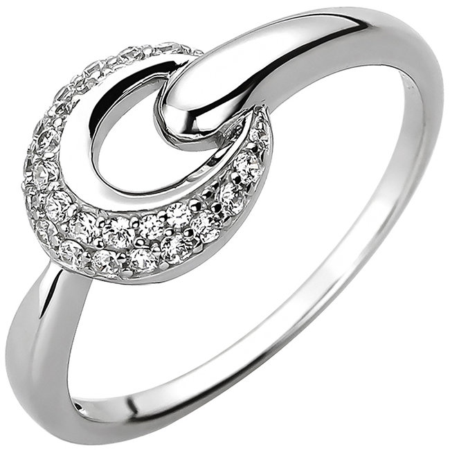 Ring in 925 sterling silver with 25 zirconias