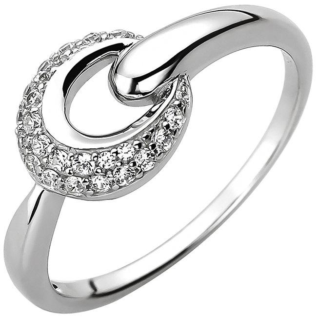 Ring in 925 sterling zilver met 25 zirkonia's