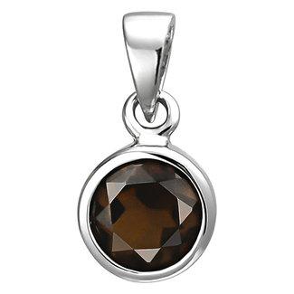 Aurora Patina Silver pendant with smokey quartz
