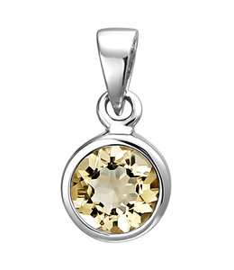 JOBO Silver pendant with citrine
