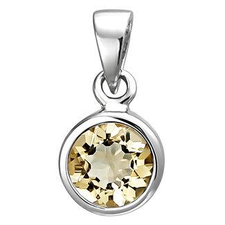 Aurora Patina Silver pendant with citrine