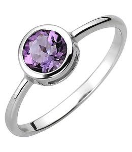 Aurora Patina Zilveren ring met amethist
