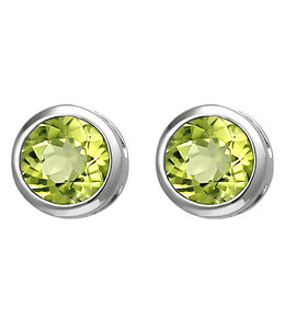 Aurora Patina Silver earstuds peridot 6 mm