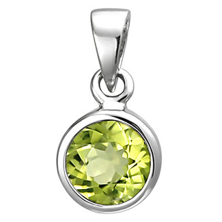 Aurora Patina Silver pendant with peridot