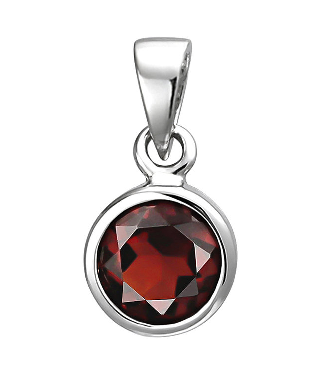 Aurora Patina Pendant in 925 sterling silver with garnet 6 mm