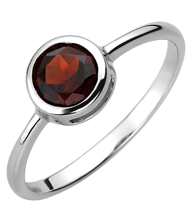 Aurora Patina Ring in 925 sterling silver with garnet approx. 6 mm