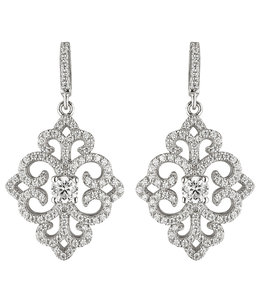 JOBO Silver earrings with zirconia