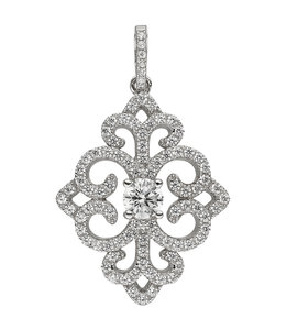 JOBO Silver pendant with zirconias