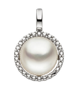 Aurora Patina White gold pendant with pearl