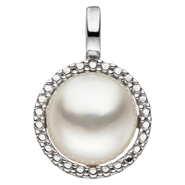 White golden pendant 8 ct. 333 with pearl approx. 8.5 - 9 mm