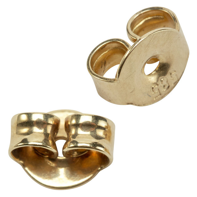 Earring stud backside 585 gold