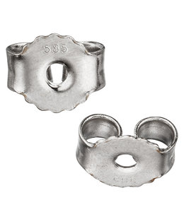 JOBO Earring stud backside 585 white gold