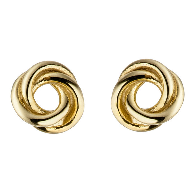 Gold earstud Knot 8 carat (333) 5 mm