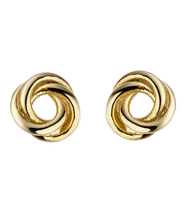 Aurora Patina Gouden oorknopjes Knoop 8 karaat (333) 5 mm