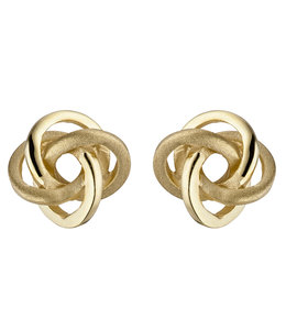 JOBO Gold earstuds Double Knot 8 carat