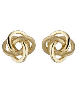 JOBO Gouden oorstekers Dubbele Knoop 8 karaat