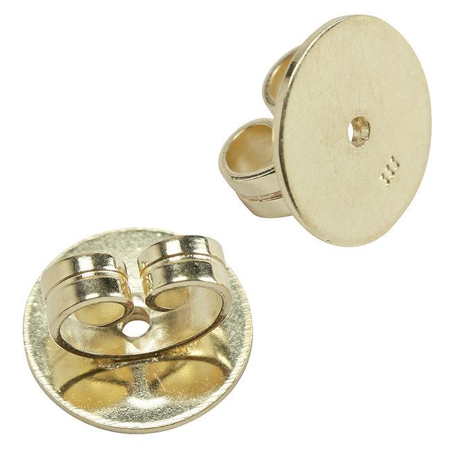 Aurora Patina Earring stud backside large 333 gold