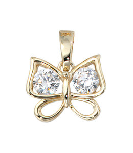 JOBO Golden pendant butterfly with zirconia