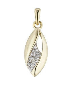 JOBO Golden pendant with zirconia