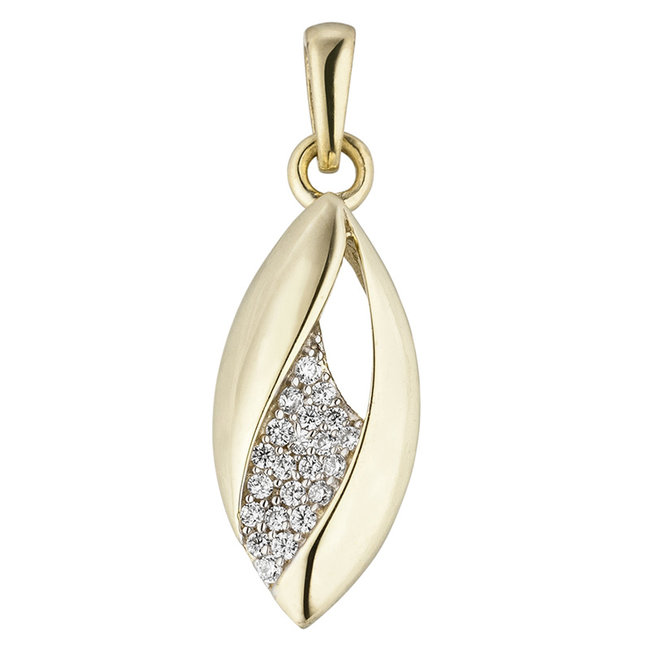 Aurora Patina Golden pendant with zirconia