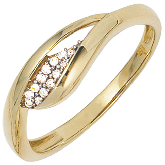 Gold ring with zirconia 8 carat (333)
