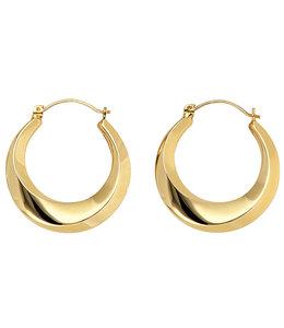 JOBO Ohrringe Creolen 8 kt Gold 24 mm